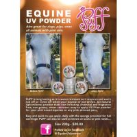 Product flyer for Puff Equine UV Powder