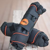 Black with orange accent wrap around Rambo Ionic Stable Boots