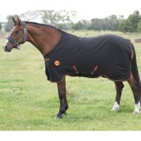 Black with orange trim spun polyester Rambo Ionic Stable Sheet