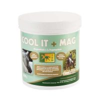 A 500g tub of Cool It + Mag nutritional feed supplement
