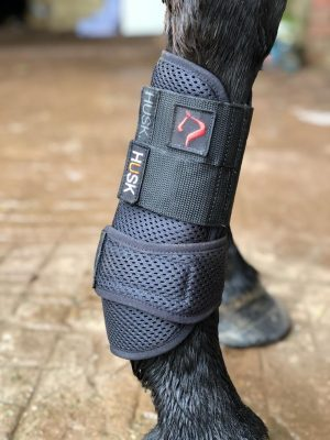 HUSK La Irenita II Sport Boot - Black 3D honeycomb like material with white piping and straps